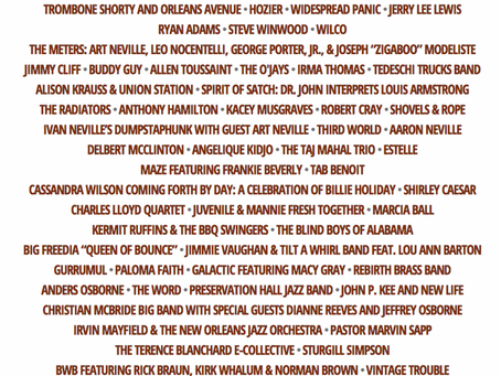 New Orleans JazzFest Lineup: Elton John, The Who, Wilco, Widespread Panic, No Doubt +more