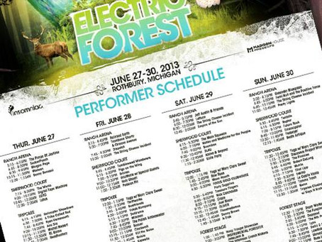 Electric Forest Schedule Released!