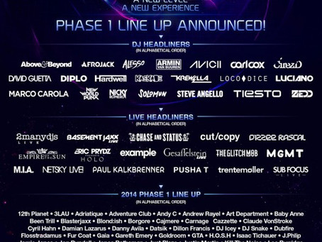 LINEUP ANNOUNCEMENT: ULTRA Phase 1 – Above & Beyond, MGMT, Empire of The Sun, Diplo, and