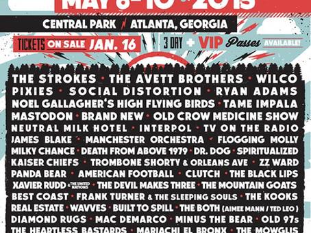 Shaky Knees Announces 2015 Lineup: Strokes, Avetts, Wilco, Tame Impala +more