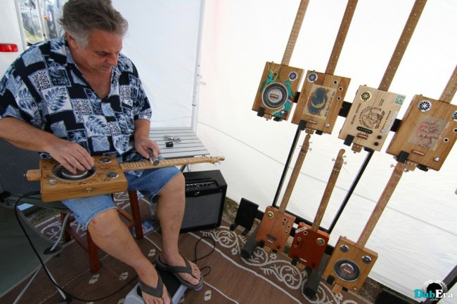 Grassroots Festival cigar box guitar
