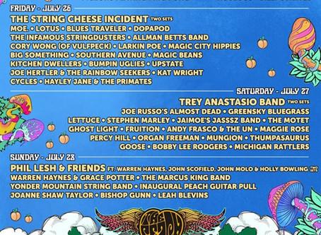 The Peach Music Festival announces daily lineups