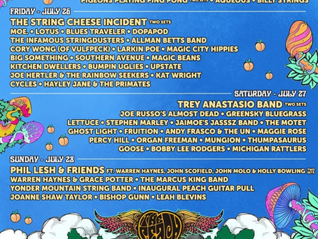 The Peach Music Festival announces daily lineups