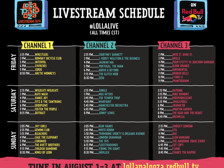 Lollapoloza Live Stream Schedule Is Awesome