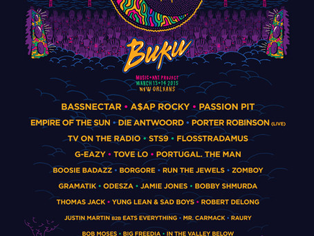 Buku 2015 Lineup Announcement (Bassnecter, Odesza, STS9, Die Antwoord, A$AP Rocky, and More)