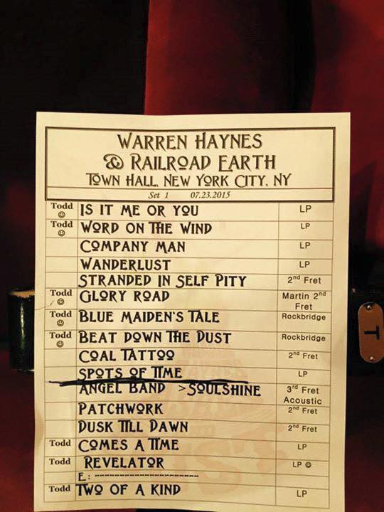 Warren-Haynes-Railroad-Earth-Town-Hall-Setlist