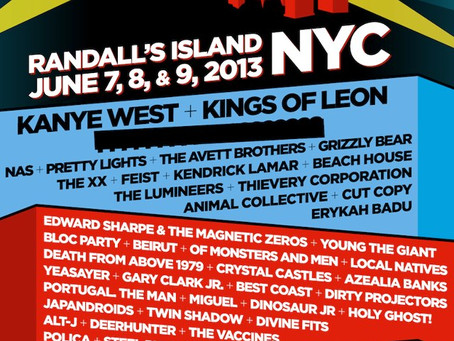 The Governors Ball Music Festival 2013 Lineup: Kanye, Pretty Lights, Thievery Corp., the XX and more