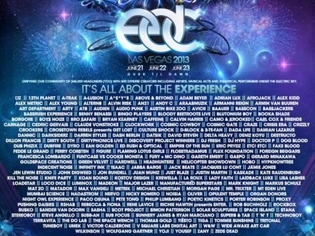 LINEUP ANNOUNCEMENT: EDC Vegas 2013