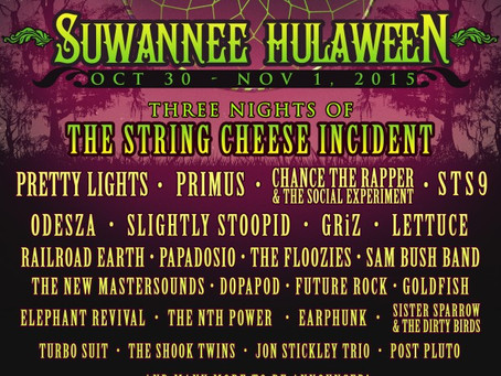 Suwannee Hulaween Announces 2015 Lineup!