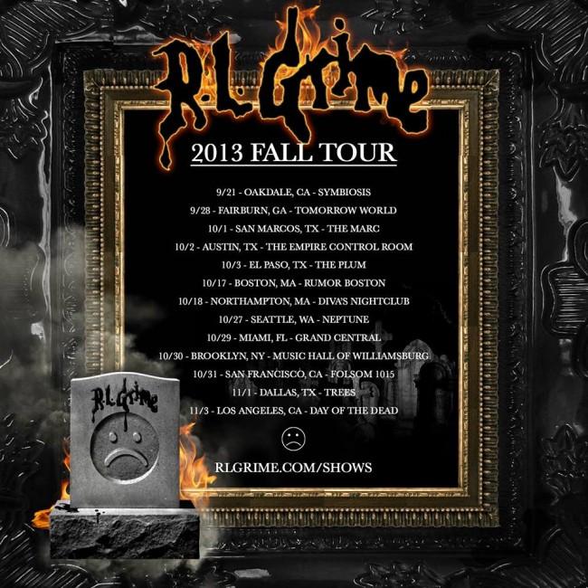 RL Grime fall tour