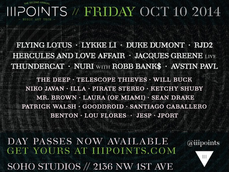 iii Points Festival in Miami Announces Friday Schedule (Flying Lotus, RJD2, and Many More)