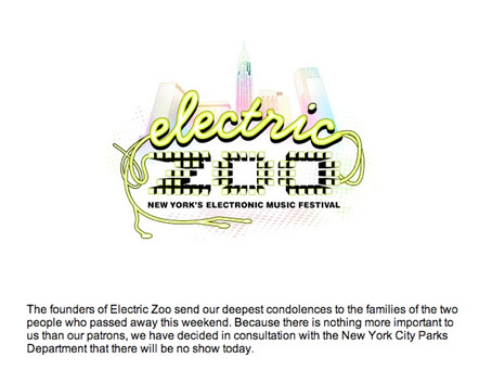 Electric Zoo Cancelled Today Due to Drug-Related Deaths