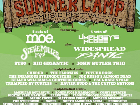 Summer Camp Announces Lineup: Widespread Panic, STS9, Steve Miller Band + more