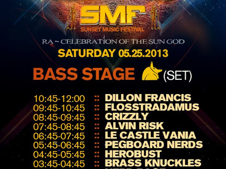 Sunset Music Festival Announces Bass Stage Schedule