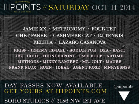 iii Points Festival in Miami Announces Saturday Schedule (Jamie XX, Chet Faker, and more)