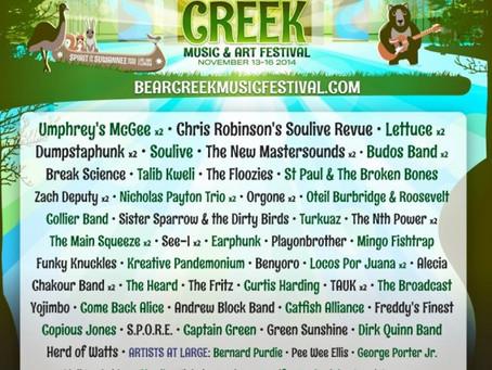 Bear Creek Adds Chris Robinson Soulive Revue, Talib Kweli & more!