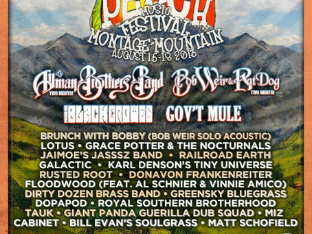 Peach Music Festival: Allman Brothers Band, Bob Weir, Black Crowes, Govt Mule, Lotus, more