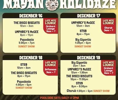 Mexico's Mayan Holidaze Announced: STS9, Umphrey's McGee, Disco Biscuits + more