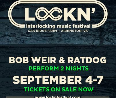 Lockn' Adds Bob Weir & Ratdog