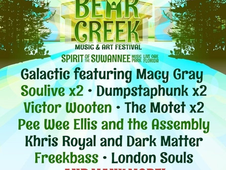 Bear Creek Announces 2015 Initial Lineup: Galactic, Soulive, Dumpstaphunk, Victor Wooten +more