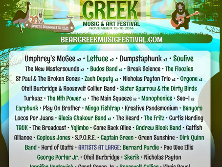 Bear Creek Adds Soulive, The Floozies, Oteil Burbridge & Roosevelt Collier Band, more