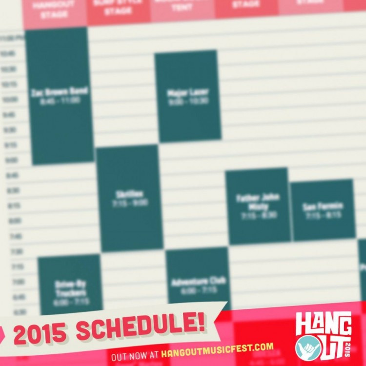 hangout 2015 schedule