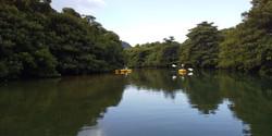 ピナイ川をカヌーで行く