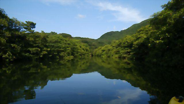 水彩ピナイ川