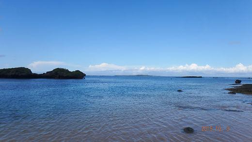 満潮時の星砂海岸
