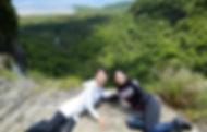 滝上からの眺め
