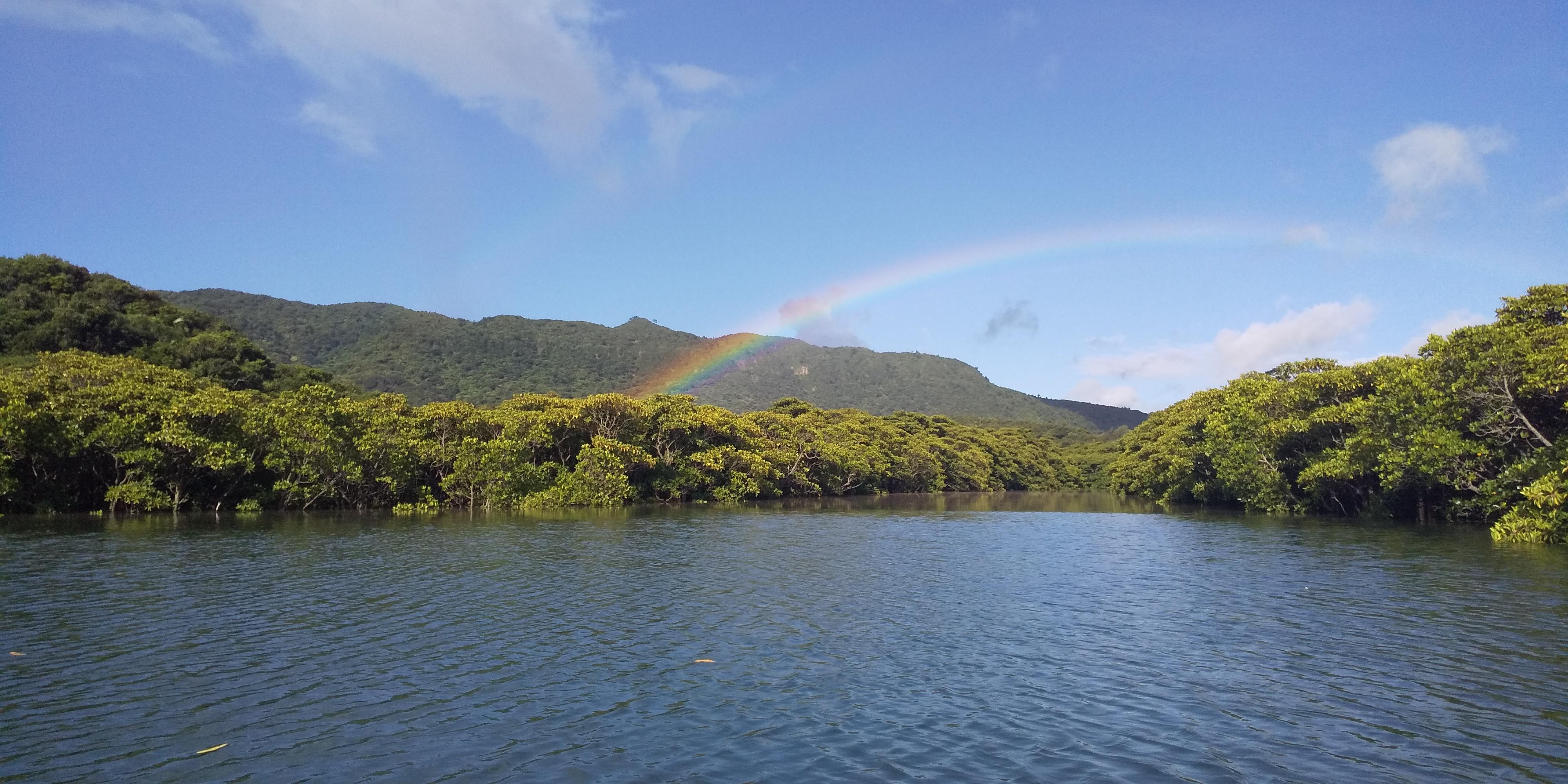 ピナイ川に架かる虹