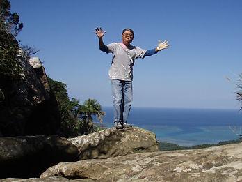 ユツン3段滝の最上段