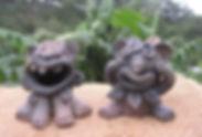 清峯窯のユニークシーサー