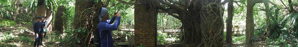 炭鉱跡の橋脚