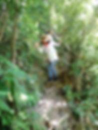 滝上を目指し登る