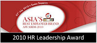 HR Leadership Award Asia's Best employer