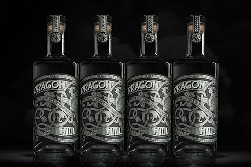 Dragon Hill Premium London Dry Gin, 70cl - 4 Bottle Pack  (Free Delivery)
