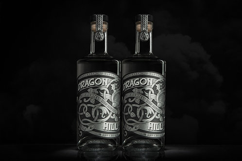 Dragon Hill Premium London Dry Gin, 70cl - 2 Bottle Pack  (Free Delivery)