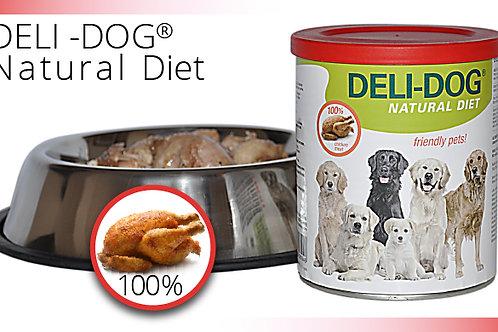 Deli-dog. Comida humeda en lata. Pollo 100%