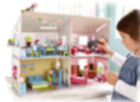 Puppenhaus mit 4 Zimmern
