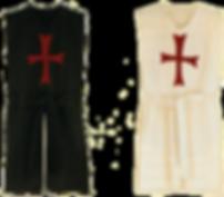 1 schwarzer und ein weißer Wappenrock