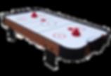 Ein kleiner Airhockey Tisch für zuhause. Der Puck flitzt auf einm Luftkissen über die Platte.