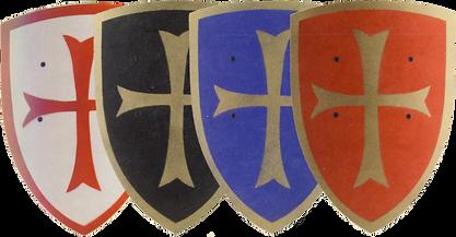 verschiedene Schilde mit Kreuz