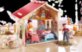 Blick in as Haus der Großeltern
