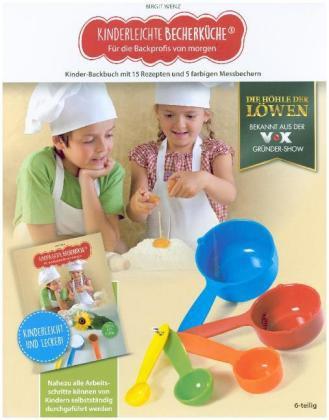 Kochbuch für Kinder mit einfacher Mengenabmessung durch verschiedener Becher