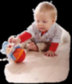 Baby mit Stehauf Figur
