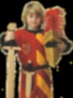 Ritter mit Helm und Schwert