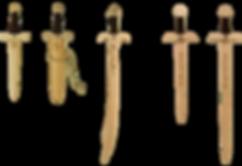 verschiedene Dolche und Kurzschwerter