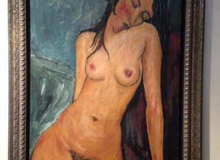 Painting Of The Week - David Henty's recreation of Amedeo Modigliani 'A Female Nude'