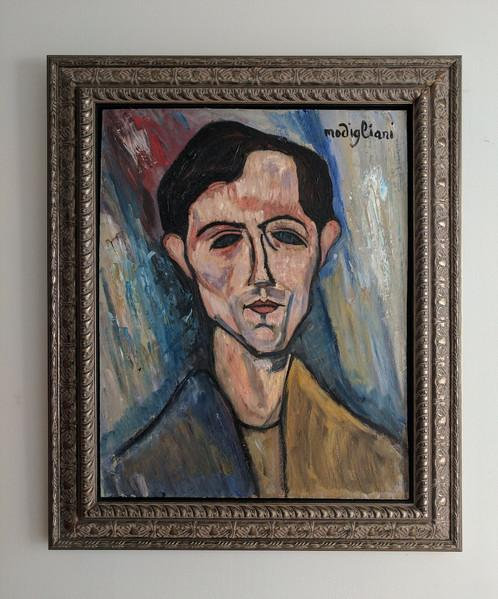 After Amedeo Modigliani Man's Head (Portrait Of A Poet) 1915